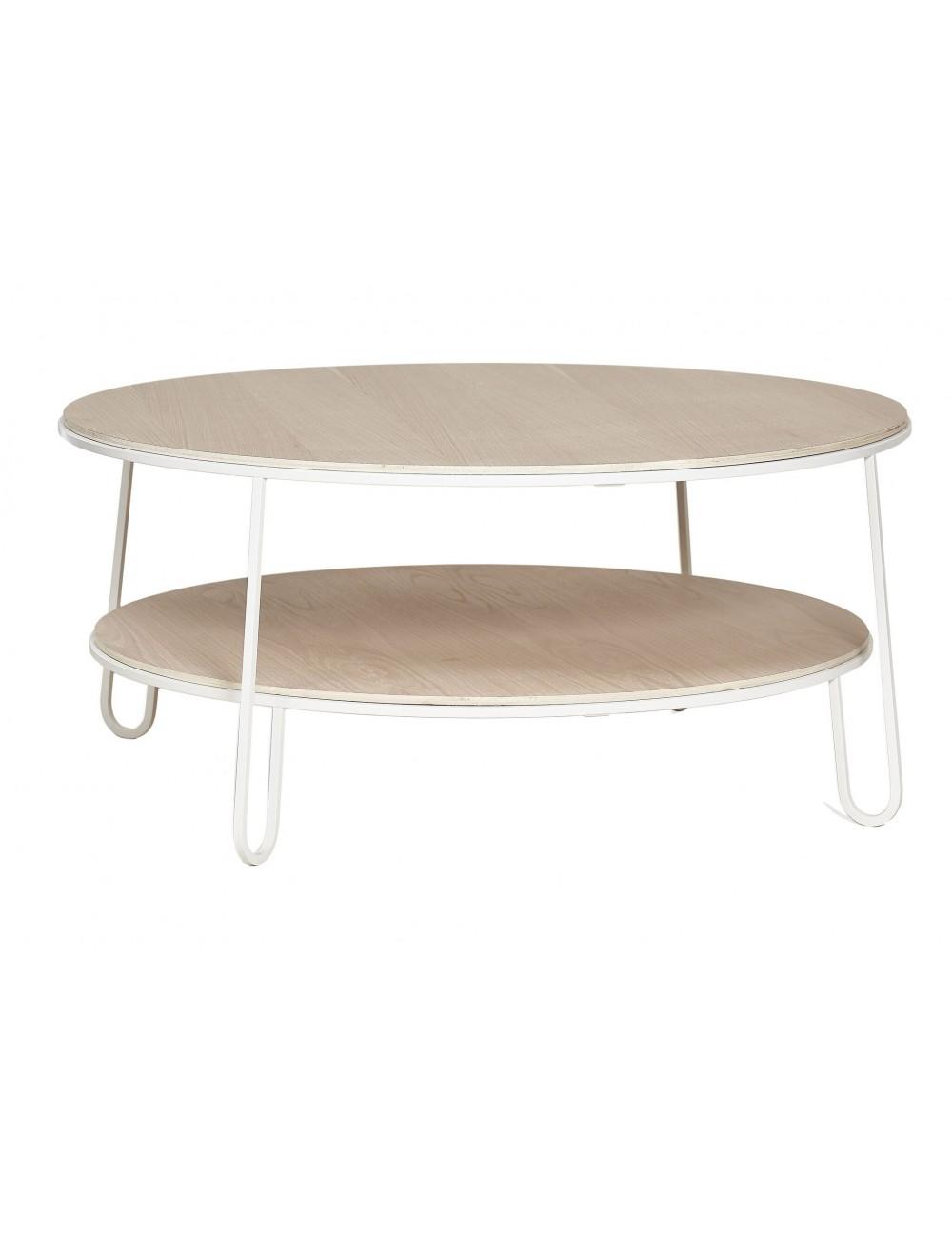 Eugénie Table basse 90 cm harto fabrication portugaise chêne