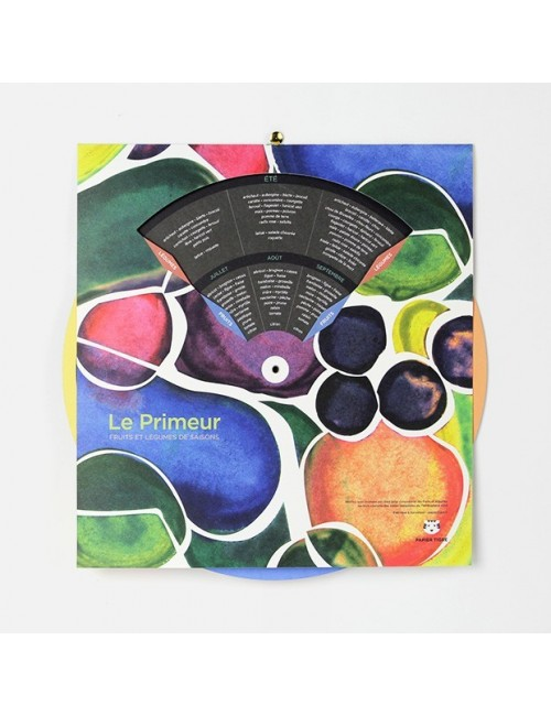 Calendrier des fruits & légumes de saison - Le Primeur papier tigre made in France