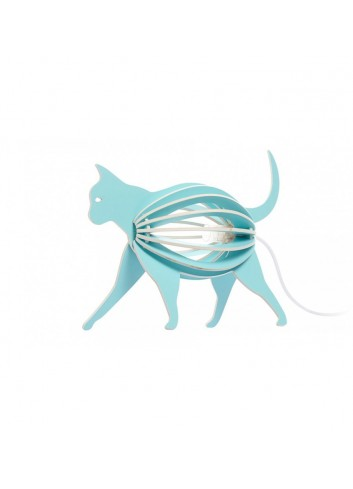 Lampe Chat Turquoise