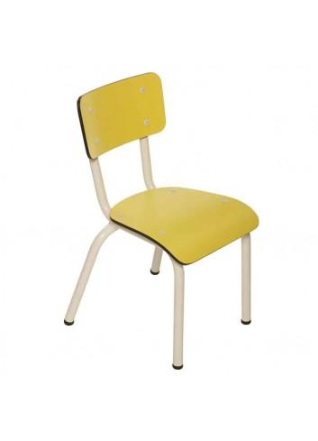 Chaise d'écolier Little Suzie- jaune citron les Gambettes fabrication européenne