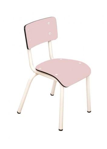 Chaise d'écolier Little Suzie- Rose poudré