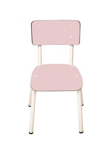 Chaise d'écolier vintage Little Suzie- Rose poudré Les gambettes mobilier pour enfant