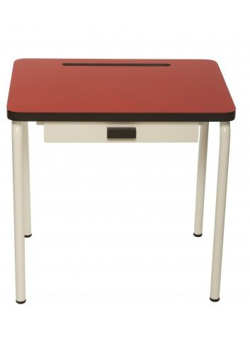 Bureau d'écolier retro- Rouge coquelicot Les Gambette fabrication portugaise