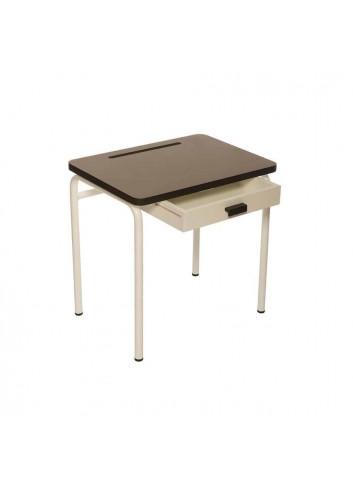 Bureau d'écolier - Taupe Les gambettes mobilier retro pour enfants