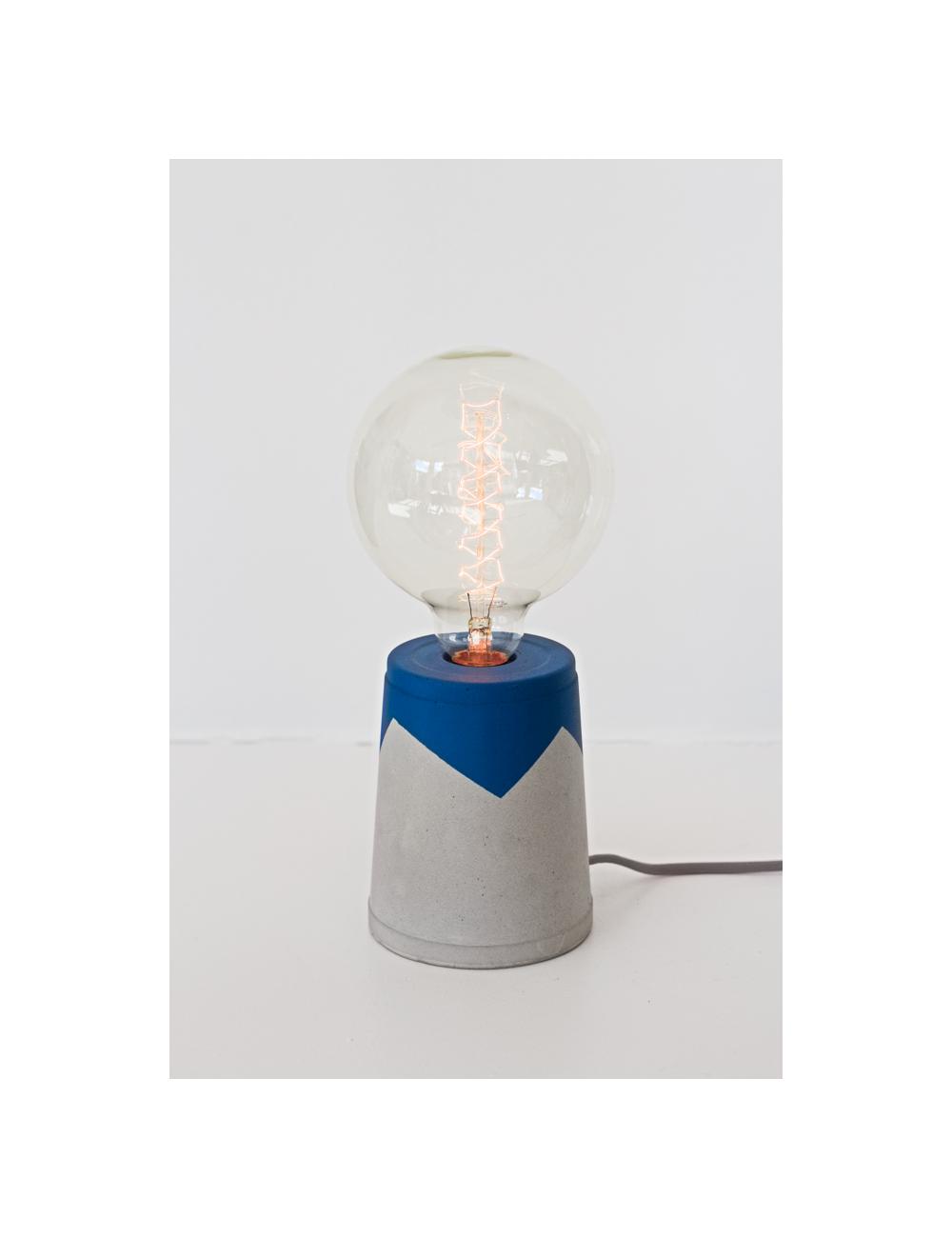 Lampe en béton - Bleu - les pieds de biche- fabrication belge