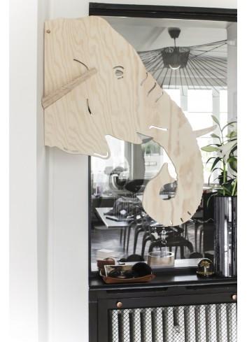 Porte-manteaux - elephant- LARCH- fabrication belge-déco chambre enfant