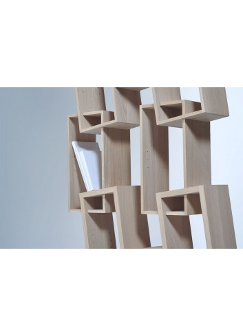 Bibliothèque KAO double chêne massif made in France