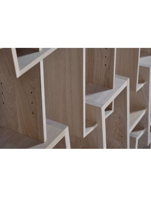 Bibliothèque KAO triple fabriquée en france par Drugeot manufacture chêne massif
