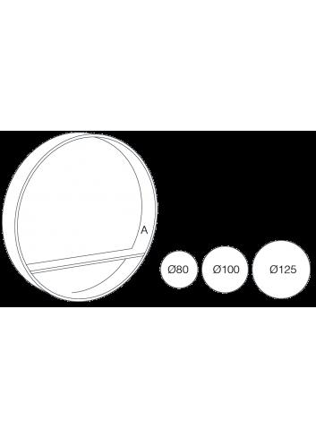Miroir console diamètre 80cm made in france drugeot manufacture