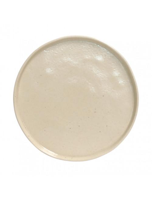 assiette pedra Lagoa en grès white