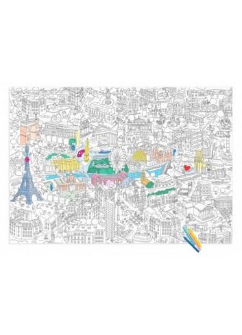 Poster géant à colorier- Paris