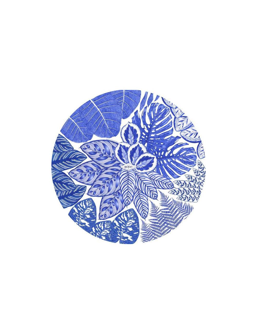 Sets de table bleus ronds