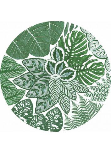 Sets de table verts ronds