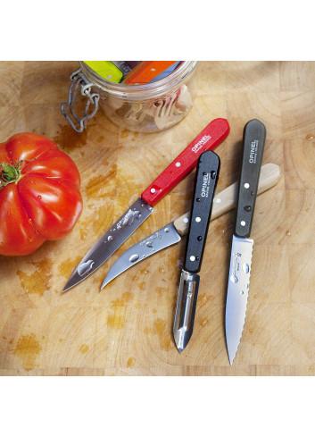 Les essentiels - Loft set de 4 couteaux de cuisine Opinel fabriqués en Europe