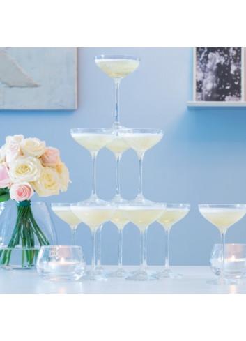 Set de verres à champagne 235ml x 10