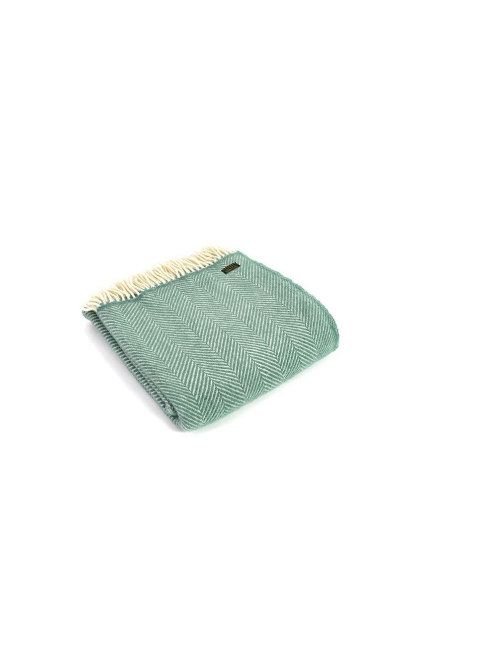Plaid en laine Chevron gris