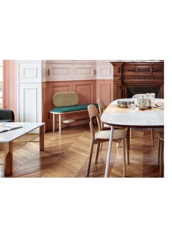 Eustache banc chêne et velour Harto Made in Portugal