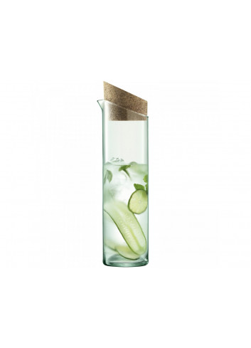 Carafe en verre recyclé bouchon en liège - 1,3L