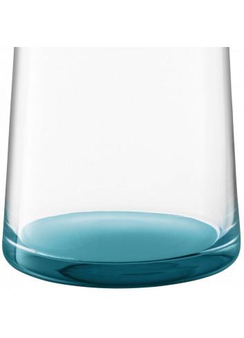 carafe en verre fond bleu bouchon en liège Made in Poland.