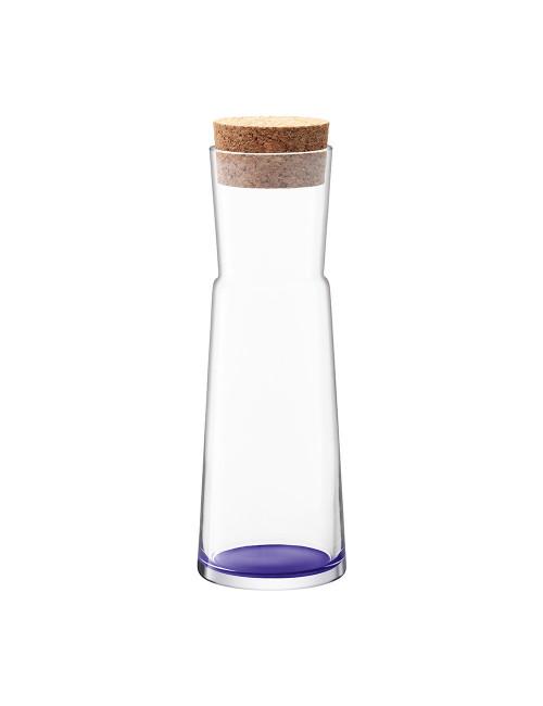 carafe en verre fond violet bouchon en liège Made in Poland.