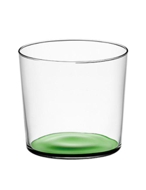 Verres en verre recyclé fond vert made in Poland