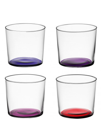 Verres en verre recyclé fond violet made in Poland