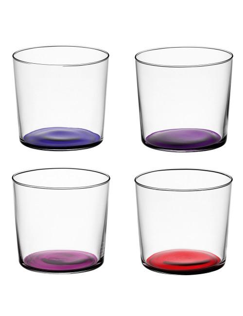 Verres en verre recyclé fond violet made in Poland