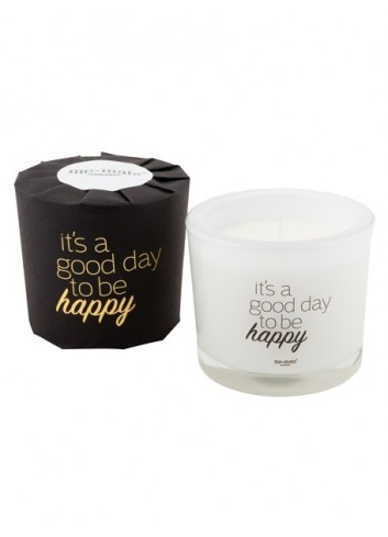 Bougie parfumée 'It's a good day to be happy'