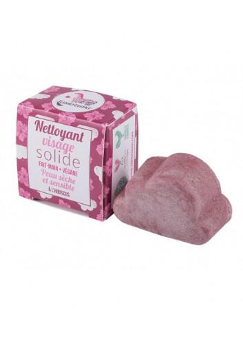 nettoyant visage solide à l'hibiscus Lamazuna peau sensible made in France
