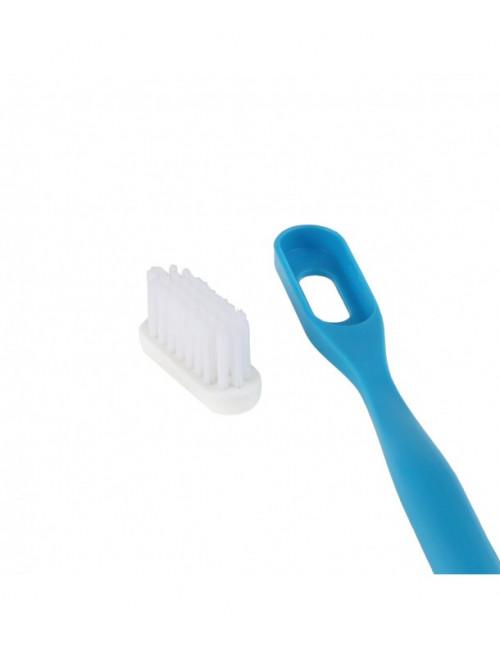 brosse à dent rechargeable en bioplastique Lamazuna fabriquée en France