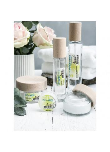 tube spray cosmétique en verre