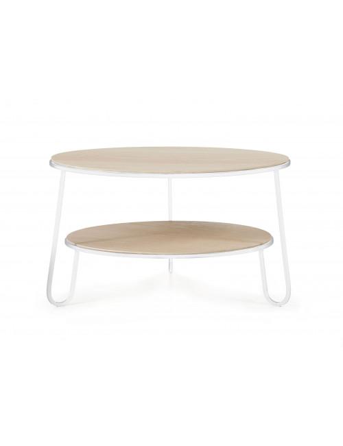 table basse Eugénie 70cm blanc chêne Hartô