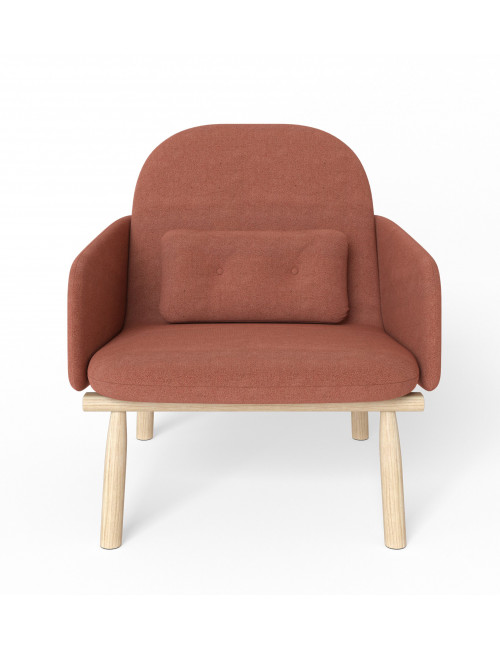 fauteuil Georges Terracotta