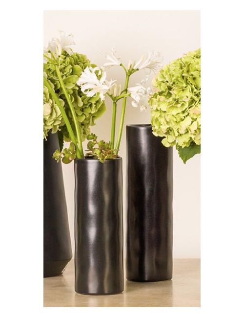 Vase en grès noire