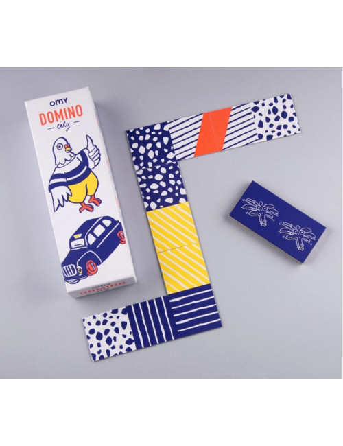jeu de domino fabriqué en France en carton recyclé