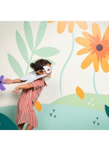 déguisement papillon en carton à colorier