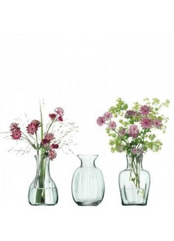 Trio de vases- verre recyclé - 11 cm