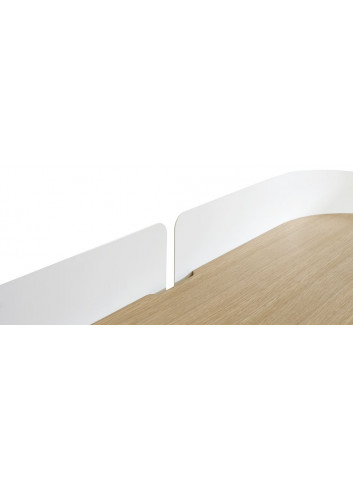 Bureau Victor - blanc harto fabrication portugaise - chêne -métal