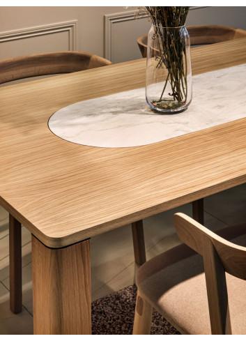 table Garance chêne et pierre Hartô made in Portugal