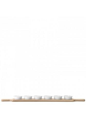 Service à condiments et plateau en chêne- Paddle 77 cm