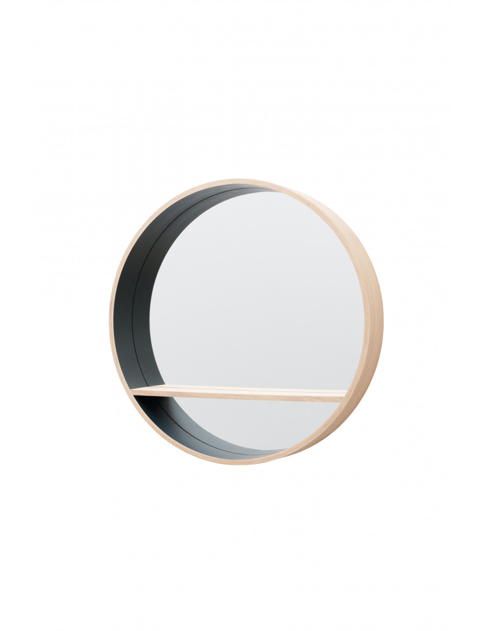 miroir rond chene massif Drugeot
