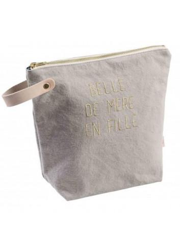 """Trousse """"Belle"""" - fleur de sel (grand modèle) de la marque la cerise sur le gateau fabriquée au Portugal"""