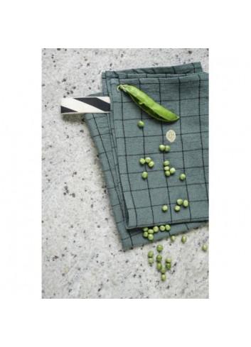 Torchon de vaisselle sauge Oscar coton et lin La cerise sur le Gateau
