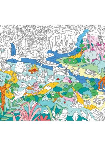 Poster géant à colorier- Jungle