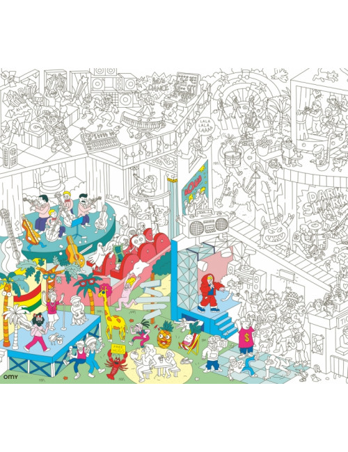 Poster géant à colorier- Music
