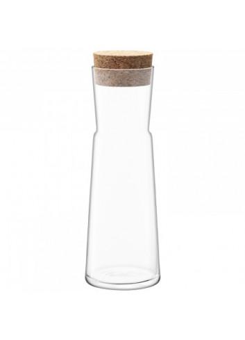 carafe en verre  bouchon en liège Made in Poland.