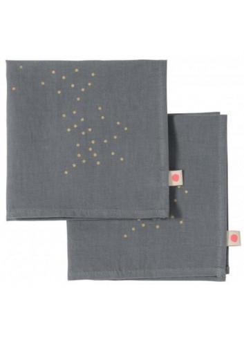 2 Serviettes de table -  coton La cerise sur le gateau