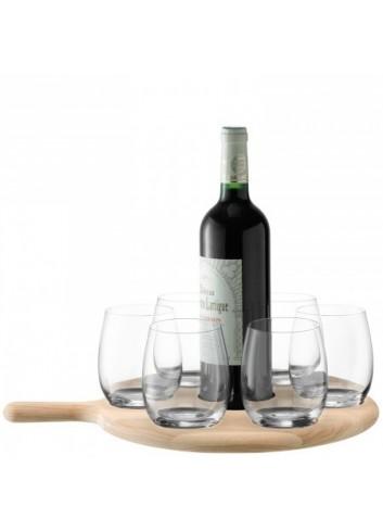 Service à vin et plateau en chêne