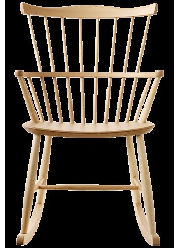 chaise à bascule en bois design scandinave