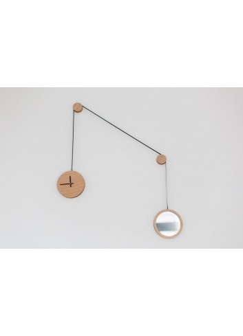 Horloge / miroir pendule